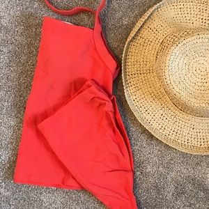 { Lands' End } Tankini Ribbed Bikini